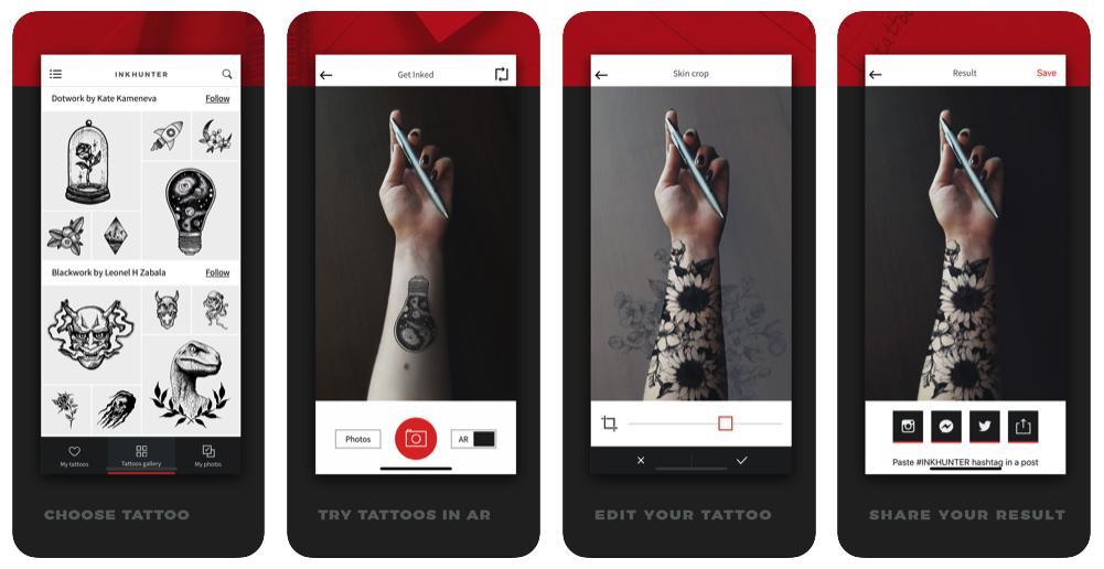 INKHUNTER AR Tattoo App